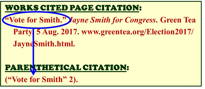 MLA cite a website with no author